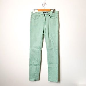 Urban Outfitters BDG Mint Green Cigarette Hi Rise Skinny Jeans